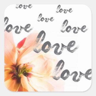 Love Love Love Square Sticker