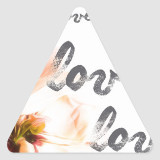 Love Love Love Triangle Sticker