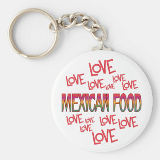 Love Love Mexican Food Basic Round Button Keychain