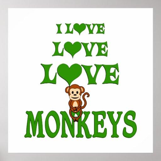 Love Love Monkeys Poster