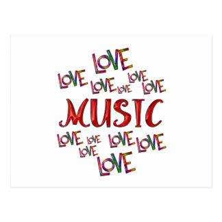 Love Love Music Postcard