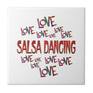 Love Love Salsa Dancing Ceramic Tile