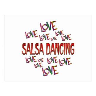 Love Love Salsa Dancing Postcard