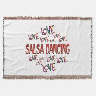 Love Love Salsa Dancing Throw Blanket