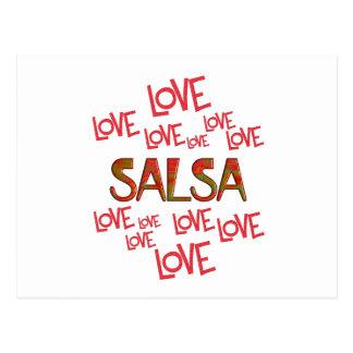 Love Love Salsa Postcard