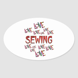 Love Love Sewing Oval Sticker