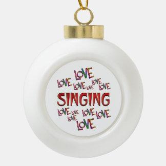 Love Love Singing Ceramic Ball Ornament