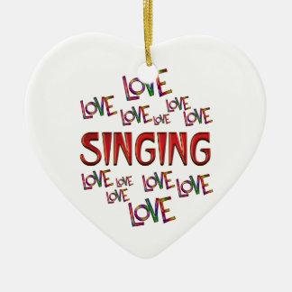 Love Love Singing Ceramic Heart Ornament
