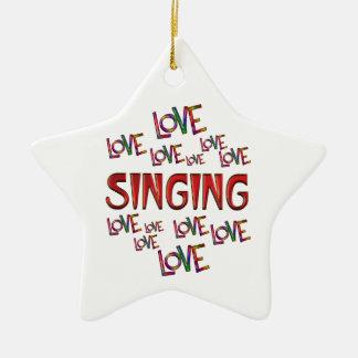 Love Love Singing Ceramic Star Ornament