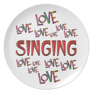 Love Love Singing Plates