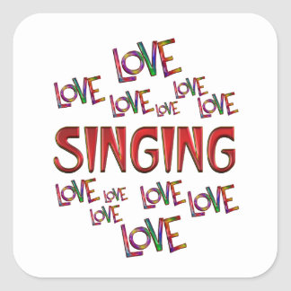 Love Love Singing Square Sticker