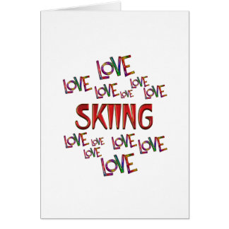 Love Love Skiing Card