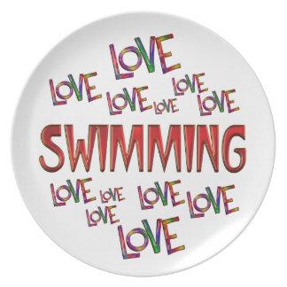Love Love Swimming Plate