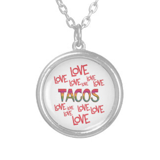 Love Love Tacos Silver Plated Necklace