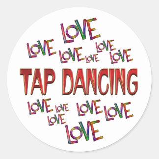 Love Love Tap Round Sticker
