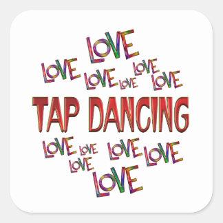 Love Love Tap Square Sticker