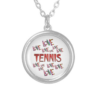 Love Love Tennis Silver Plated Necklace
