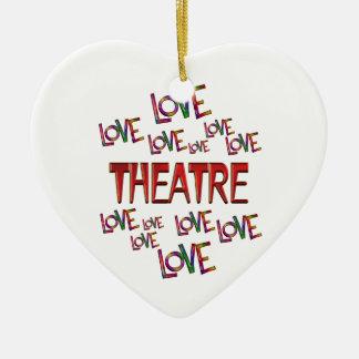 Love Love Theatre Ceramic Heart Ornament