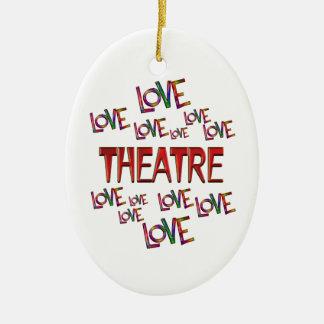 Love Love Theatre Ceramic Oval Ornament