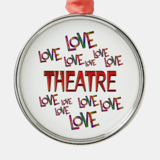 Love Love Theatre Silver-Colored Round Ornament