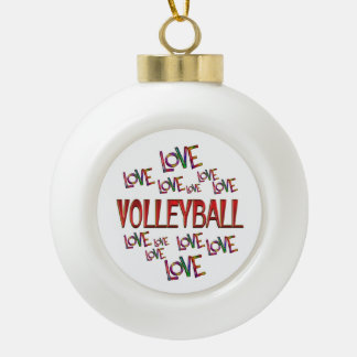Love Love Volleyball Ceramic Ball Ornament