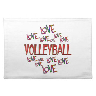 Love Love Volleyball Placemat