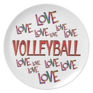 Love Love Volleyball Plate