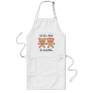 Love Made For Each Other Long Apron