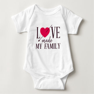 Love Made My Family - Foster Care - Parent Gift Baby Bodysuit