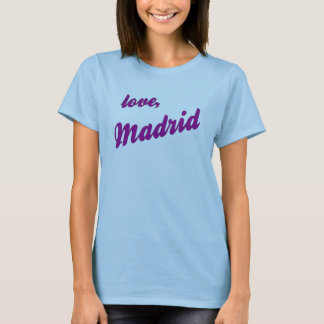 Love, Madrid - blue strappy T-Shirt