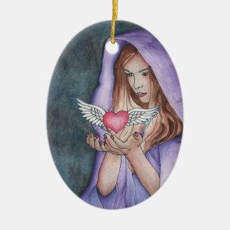 Love Magic Ceramic Ornament