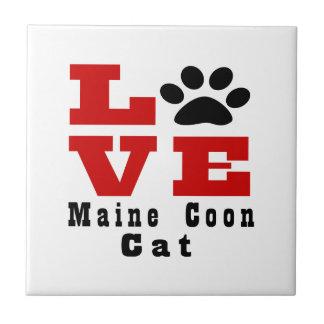 Love Maine Coon Cat Designes Ceramic Tile