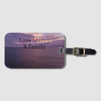 Love Makes a Family Adoption - Foster Care Luggage Tag