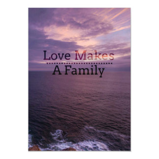 Love Makes a Family Adoption - Foster Care Magnetic Card