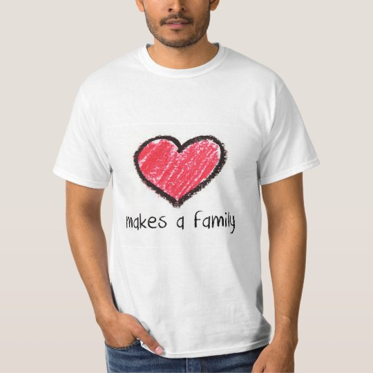 love makes a family (adult) T-Shirt