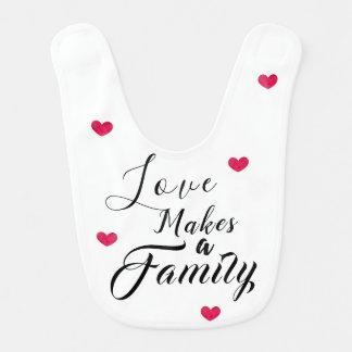 Love Makes a Family - Foster Care Adoption Bib