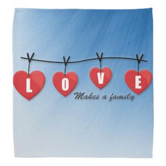 Love Makes a Family - Hearts Bandana