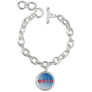 Love Makes a Family - Hearts Charm Bracelets