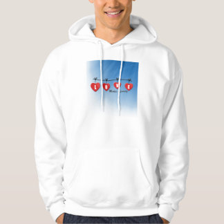 Love Makes a Family - Hearts Hoodie