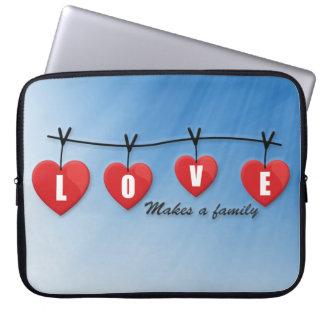 Love Makes a Family - Hearts Laptop Sleeve