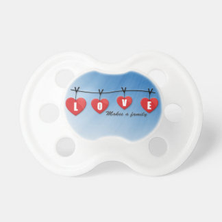 Love Makes a Family - Hearts Pacifier