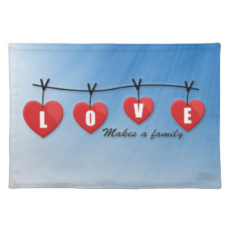 Love Makes a Family - Hearts Placemat
