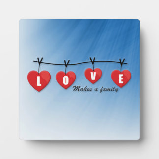 Love Makes a Family - Hearts Plaque