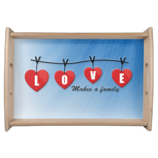 Love Makes a Family - Hearts Serving Tray