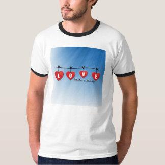 Love Makes a Family - Hearts T-Shirt