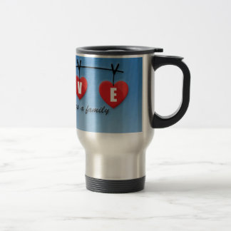Love Makes a Family - Hearts Travel Mug