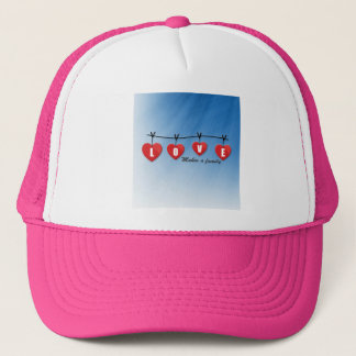 Love Makes a Family - Hearts Trucker Hat