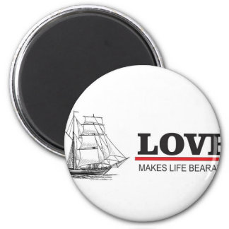 love makes life beautiful 2 inch round magnet