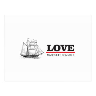 love makes life beautiful postcard