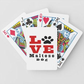 Love Maltese Dog Designes Poker Deck